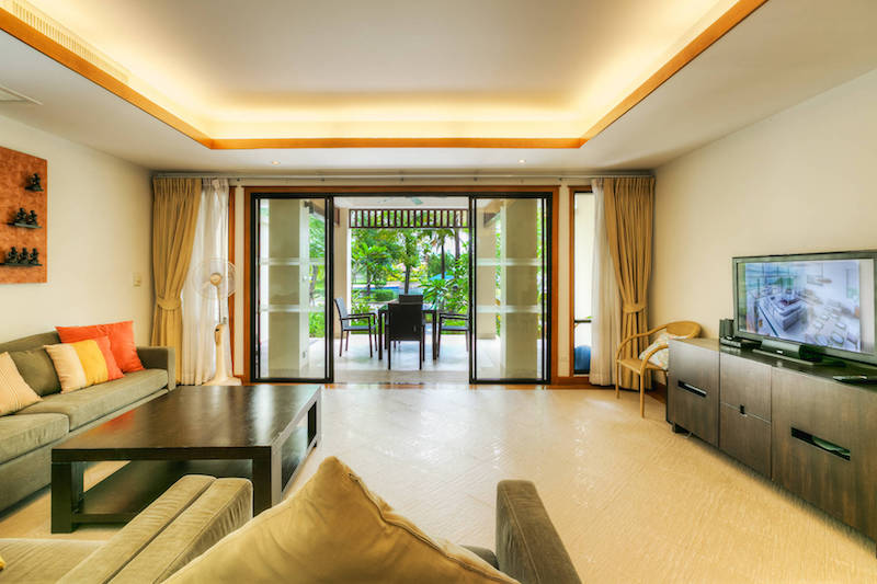 Гостиная в таунхаусе  -  Angsana Villas Phuket