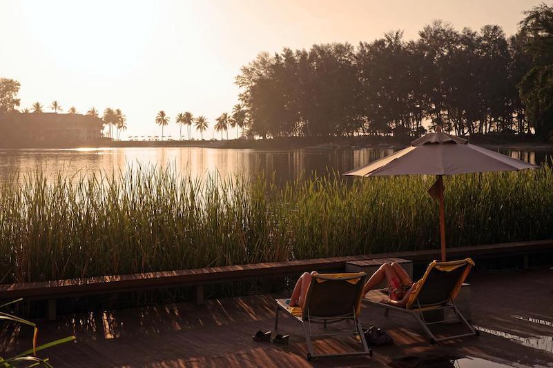 Вид на закат  - отель Cassia Phuket
