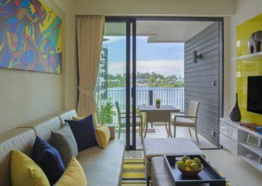 Апартаменты для троих с видом на озеро и океан в отеле Cassia