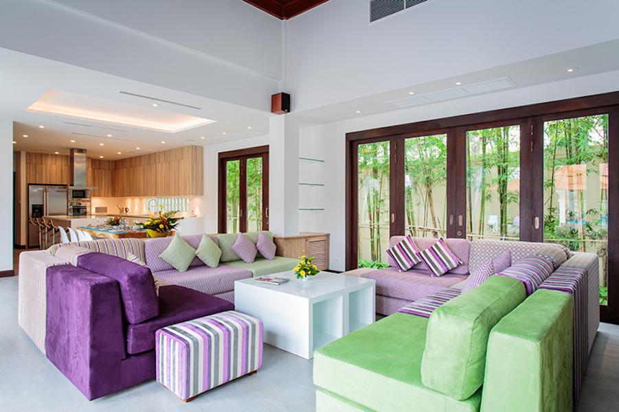Гостиная с выходом на террасу - Sai Taan Villas