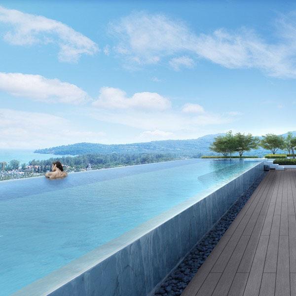 Sky Park - общий бассейн на крыше