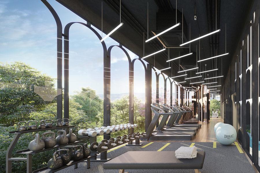 Спортивный зал в MONO Residence Bangtao Beach