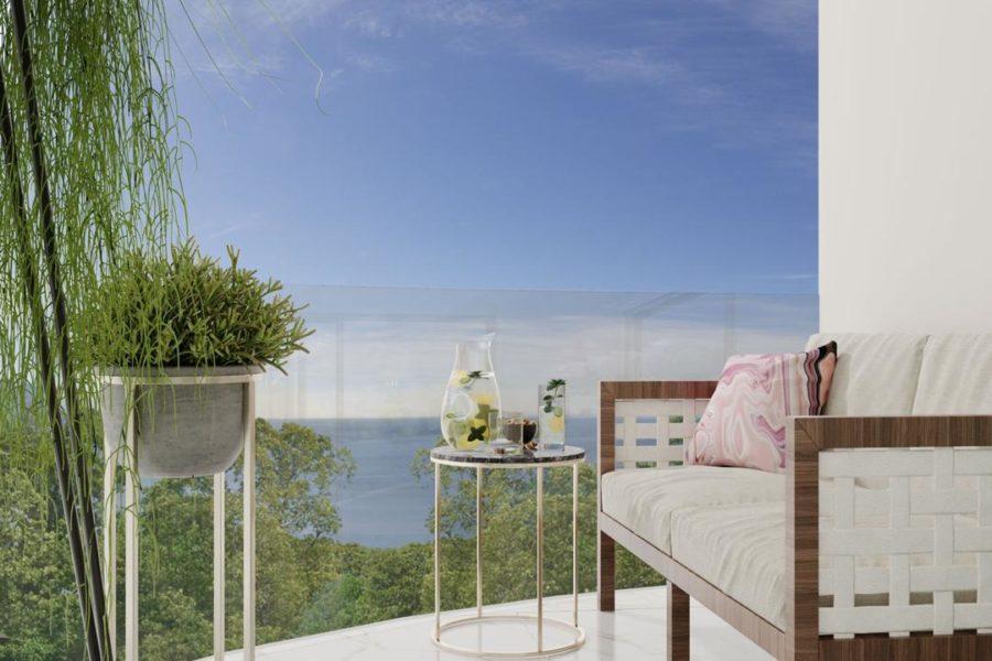 Балкон в двухспальных апартаментах Andaman Riviera
