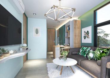 Односпальные апартаменты в Serene Condominium