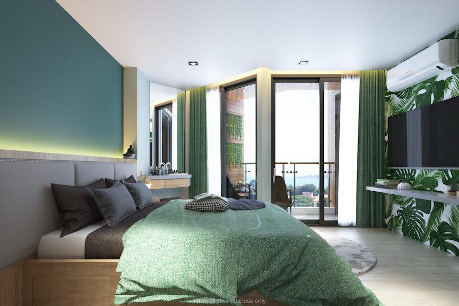 Двухспальные апартаменты в Serene Condominium