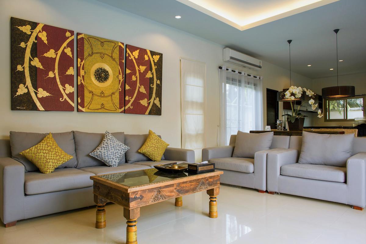Two Villas Oriental Layan - гостиная