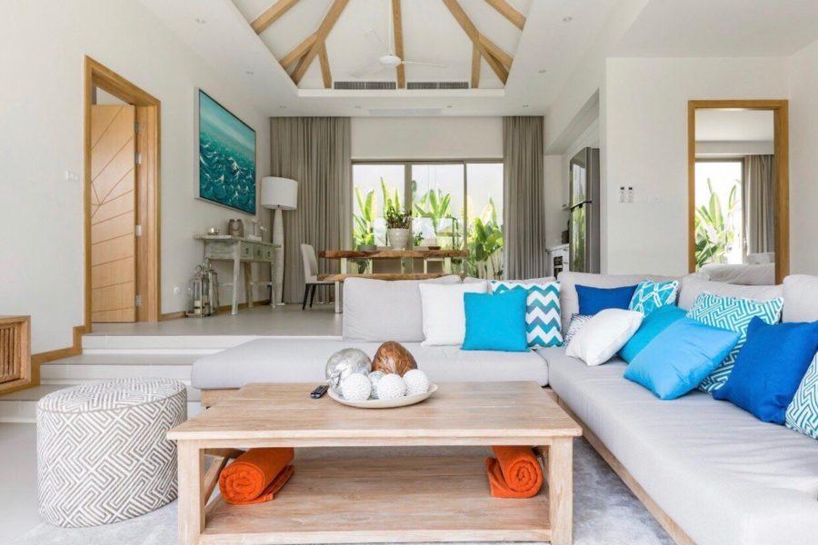 Trichada Tropical - гостиная со сводчатым потолком